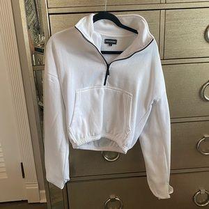 pretty little thing white hoodie
